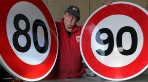 Passage de la vitesse maximale autorisée sur départementale de 90 à 80 kilomètres par heure