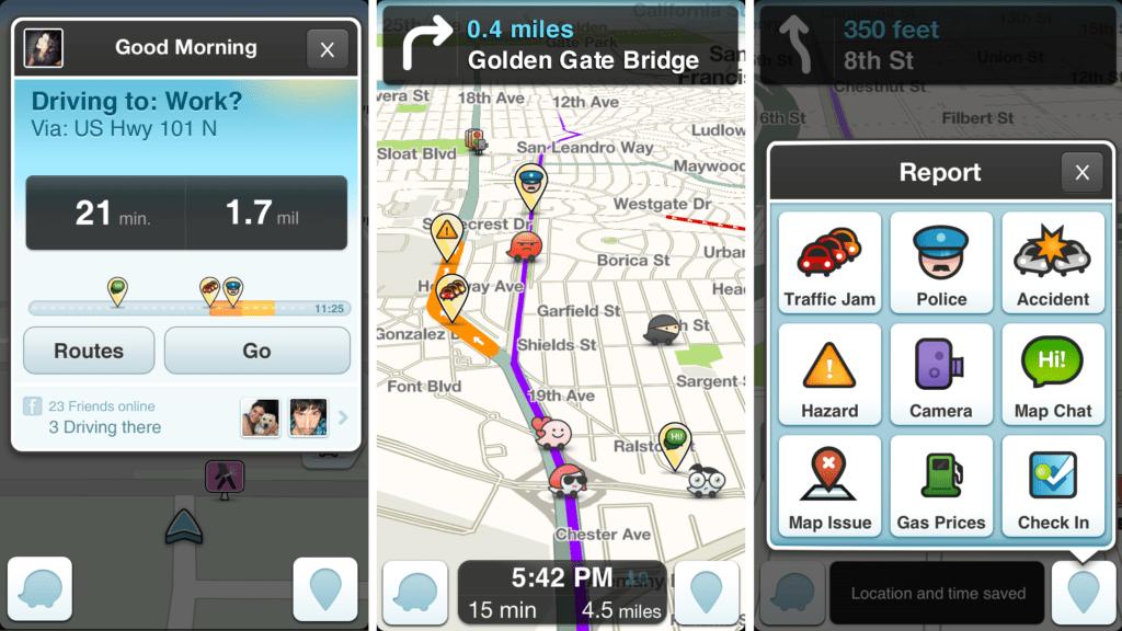 Les multiples services de Waze