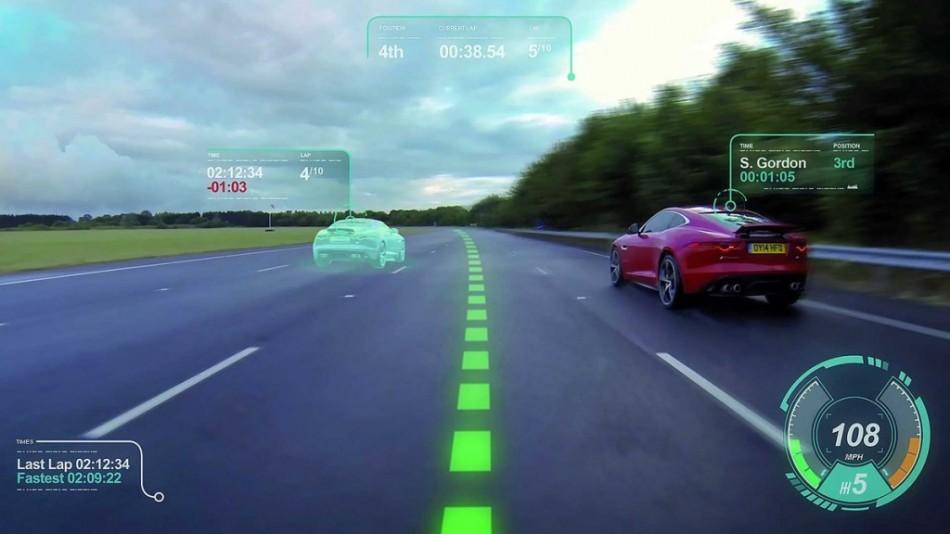 Prototype de pare-brise avec réalité augmentée de Jaguar Land Rover