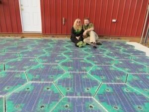 Un couple américain met au point des routes solaires
