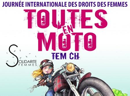 journée internationale des droits de la femme toutes en moto