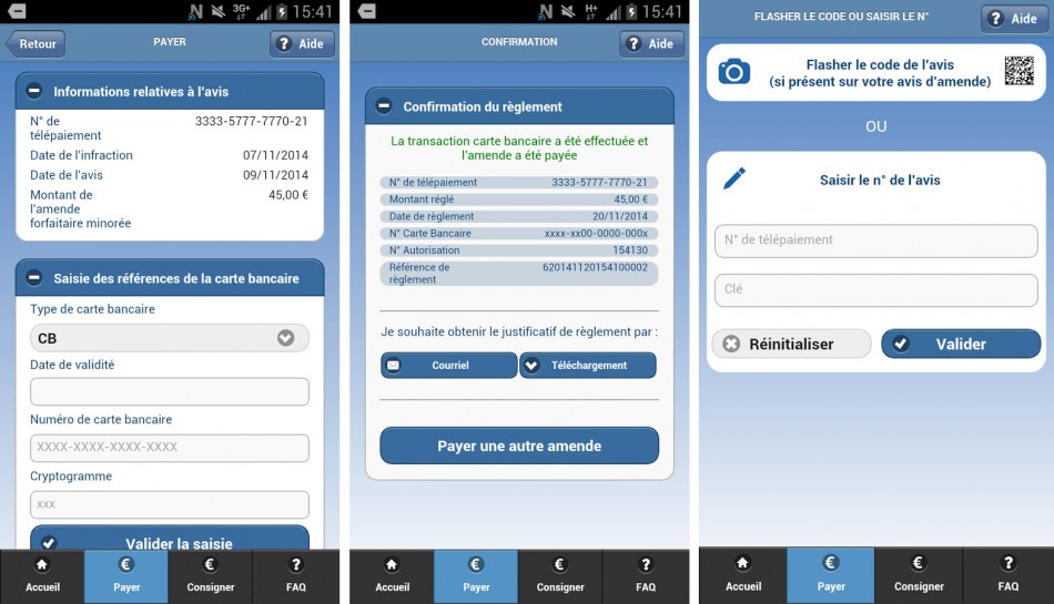 application mobile amendes.gouv