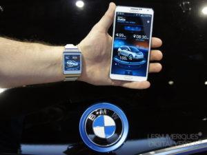 connexion entre un smartphone et une voiture