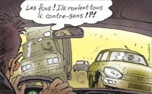 véhicules à contresens