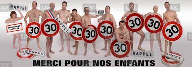 limitation à 30 km/h élus nus conseil municipal
