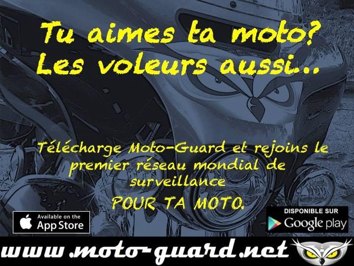 télécharger l'application Moto Guard pour smartphone pour retrouver une moto volée