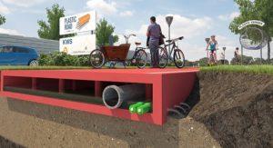 Coupe du projet de revêtement routier en plastique