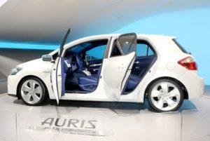 La Toyota Auris, voiture hybride concernée par le rappel