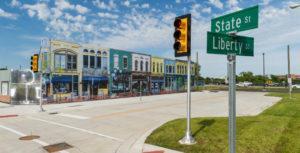 L'une des rues de MCity, ville test pour les voitures autonomes