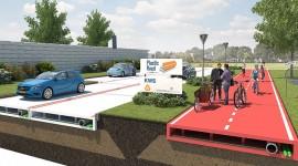 Route en plastique recyclé revêtement routier chaussée
