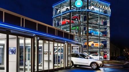 Carvana distributeur automatique de voitures d'occasion géant