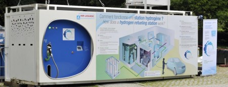 Air liquide station recharge hydrogène paris cop21