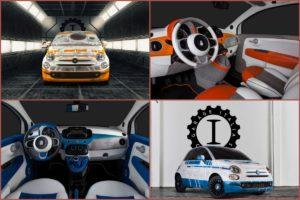 Garage-Italia-Customs Fiat 500 R2-D2 et BB-8