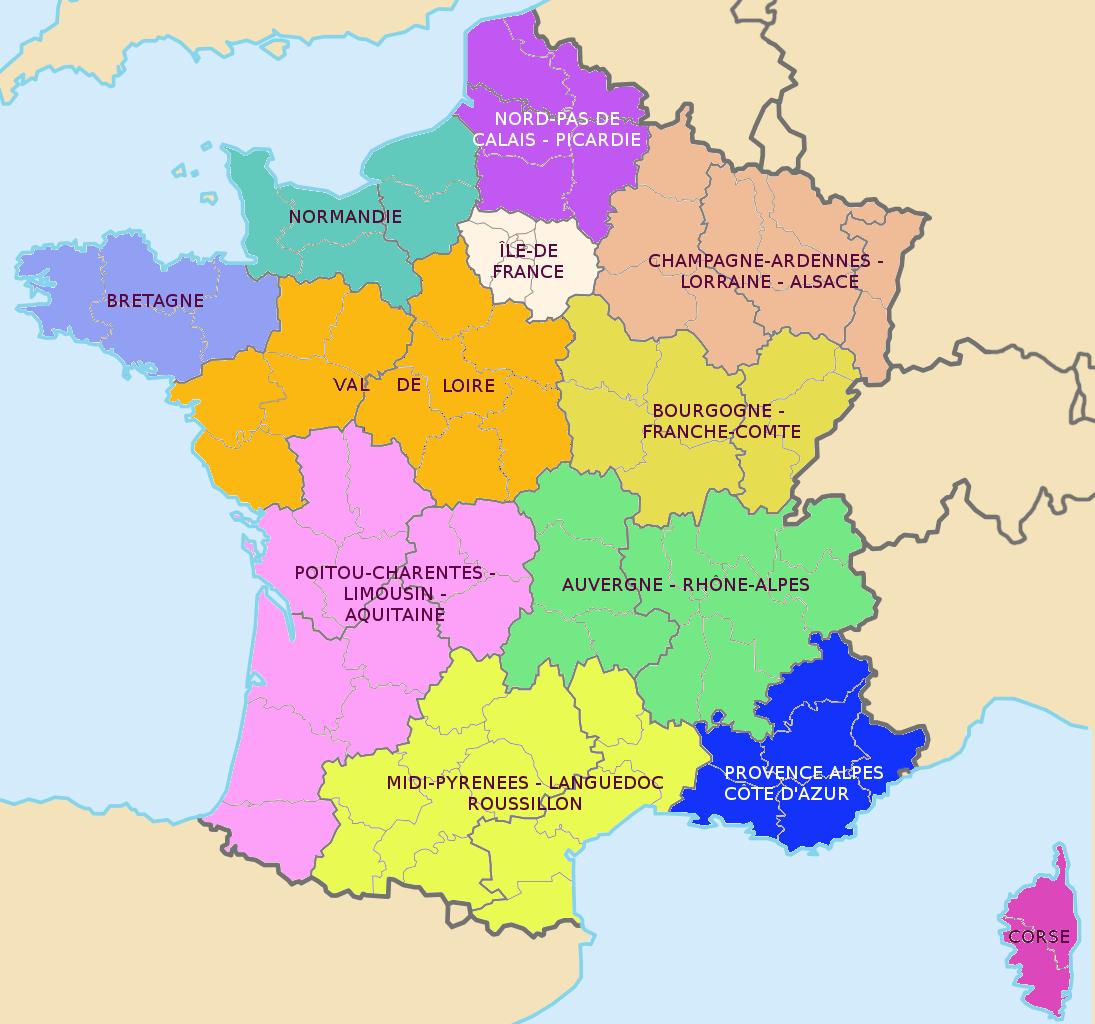 Carte Des Nouvelles R Ef Bf Bdgions Villes France
