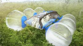 Canopi, véhicule qui roule sur les arbres conçu pour l'exploration des forêts tropicales