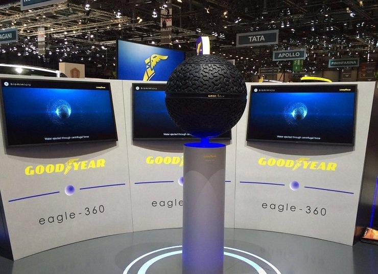 Eagle-360 concept de pneu sphérique par Goodyear