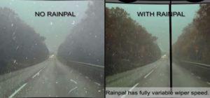 Essuie-glace pour casque moto Rainpal, meilleure visibilité par temps de pluie
