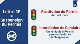 Lettre 3F Suspension du permis de conduire