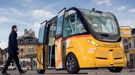 Minibus autonome électrique navette Navya