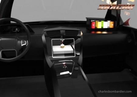 Snackr concept d'imprimante alimentaire pour transports en commun et voiture autonome de Charles Bombardier