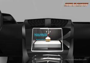 Snackr, un concept d'imprimante alimentaire compacte pour voiture autonome et transports en commun