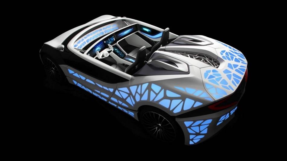 Soulmate voiture futuriste imprimée en 3D