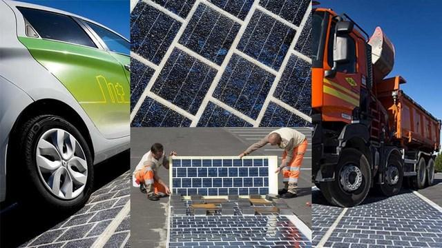 Dalle photovoltaique