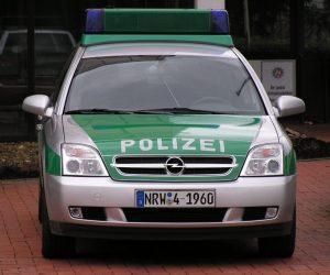 Voiture de la police allemande.